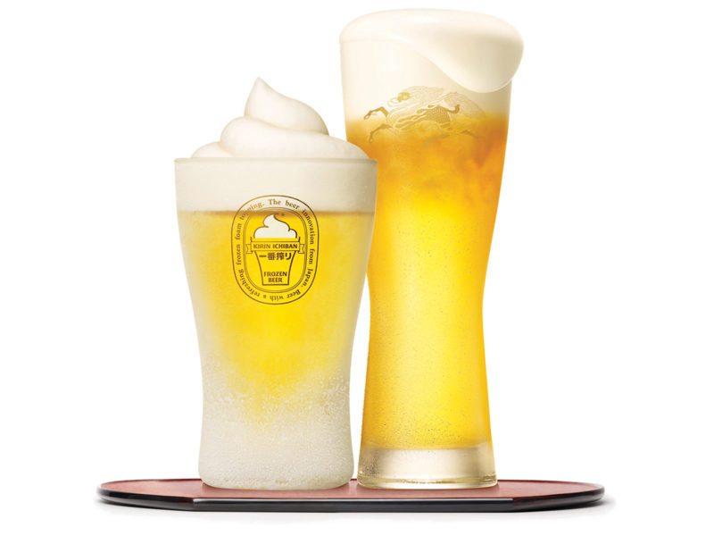 麒麟一番搾Frozen-Beer獨家研發零下5度的冰凍啤酒泡沫