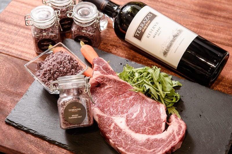 Raw-Beef-with-Terrazas-Reserva-Malbec-2013