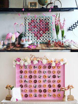 【甜到入牆!】婚宴必備的donut wall