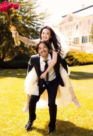 舒淇秘嫁馮德倫 只穿2014年的H&M婚紗!