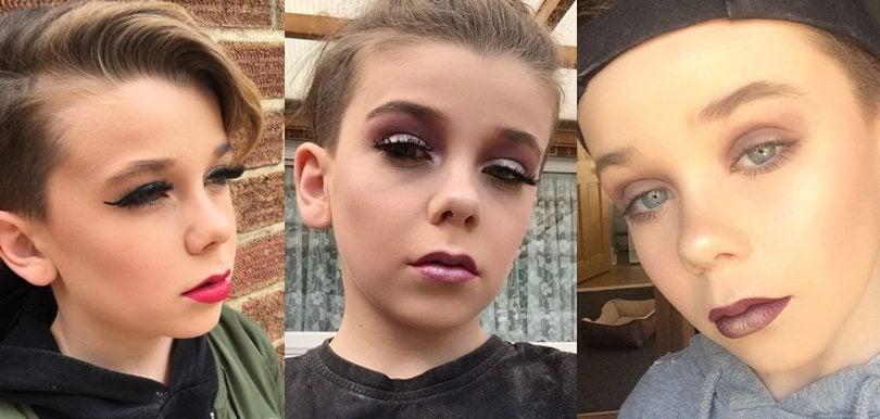 姐姐竟然輸俾你?10歲男孩示範超班化妝技術!