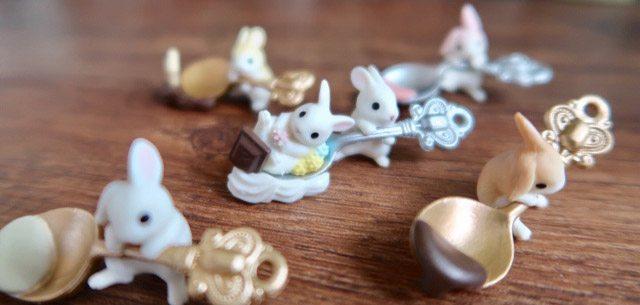 【日本購物開箱】超萌的茶匙兔扭蛋