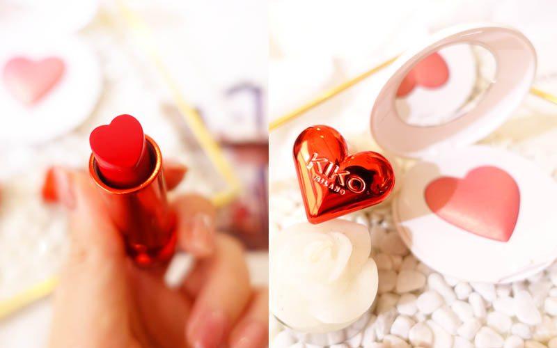 KIKO 情人節系列的胭脂和唇膏同樣以心形為主!