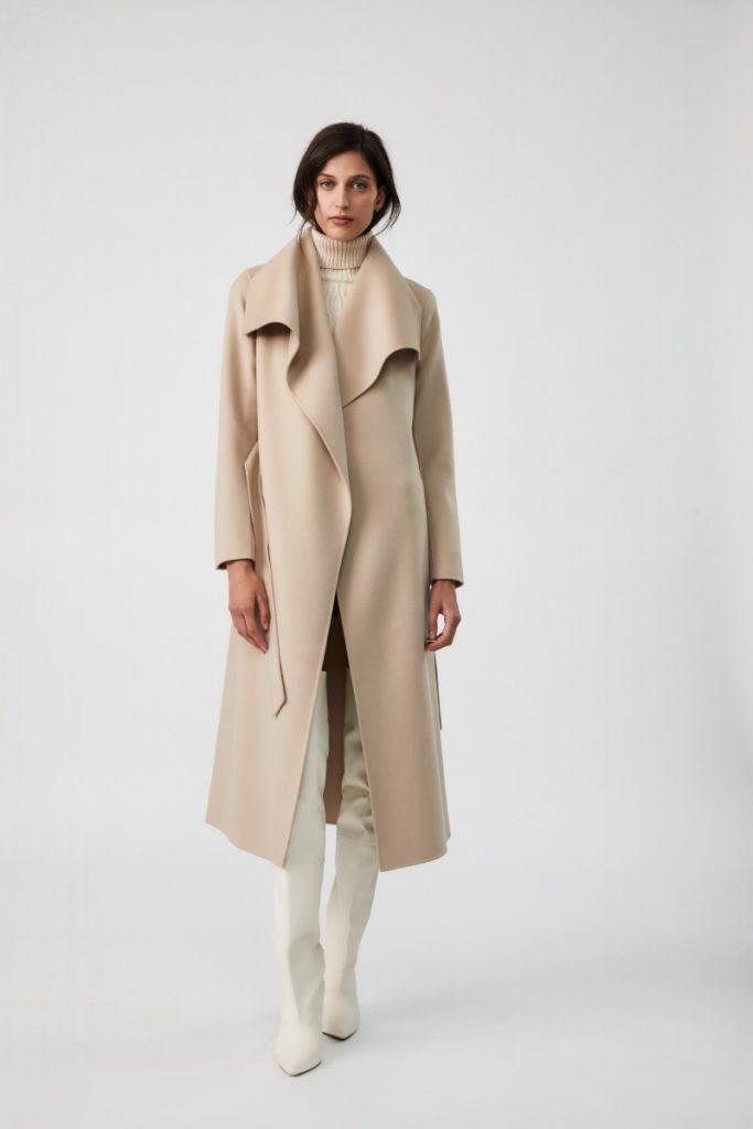 Mackage_MAI_Double-face Wool Coat With Waterfall Collar_Sand_HKD6,400