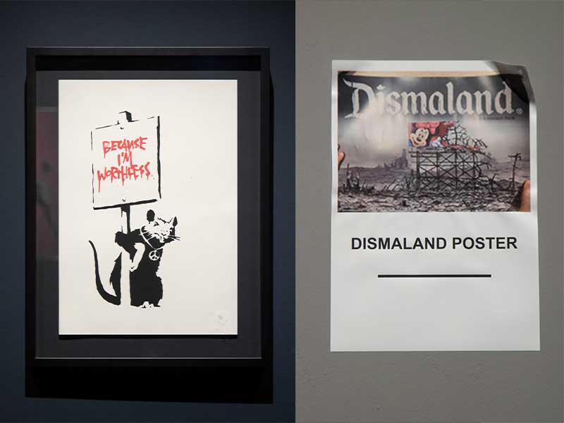 Banksy的作品都極具反諷意味