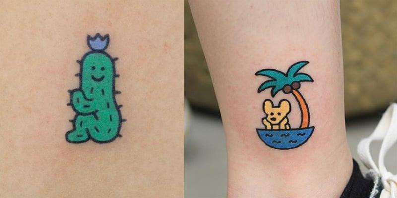 韓國可愛紋身店推介 獨一無二的童趣圖案一定不會令你後悔!