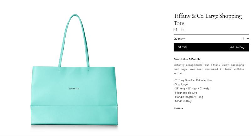 Tiffany也加入「紙袋手袋」的行列!推出超夢幻Tiffany Blue Shopping Tote限定發售