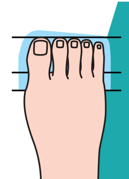 3.腳指長度幾乎一樣的你