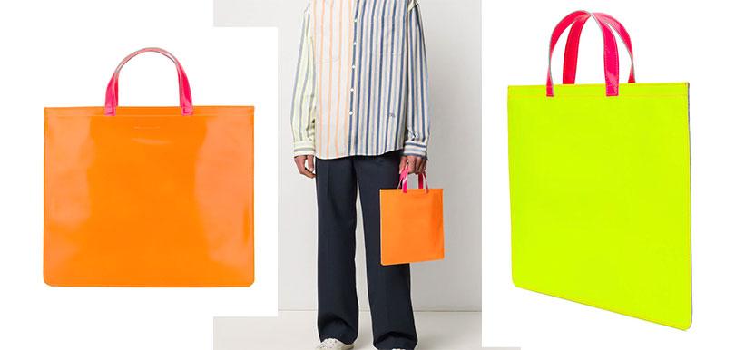 Comme Des Garçons Wallet 橙黃拼色 Tote Bag(HK$2,740)