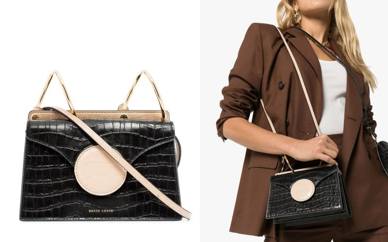 Danse Lente mini Phoebe crocodile-effect crossbody HK$1,997 (40% Off)