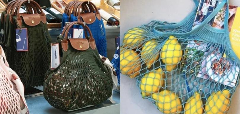 買餸時尚?Longchamp Le Pliage 變身FILET漁網袋