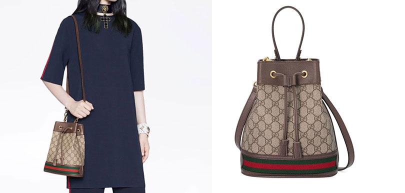 Gucci Ophidia GG bucket bag (HK$13,500)