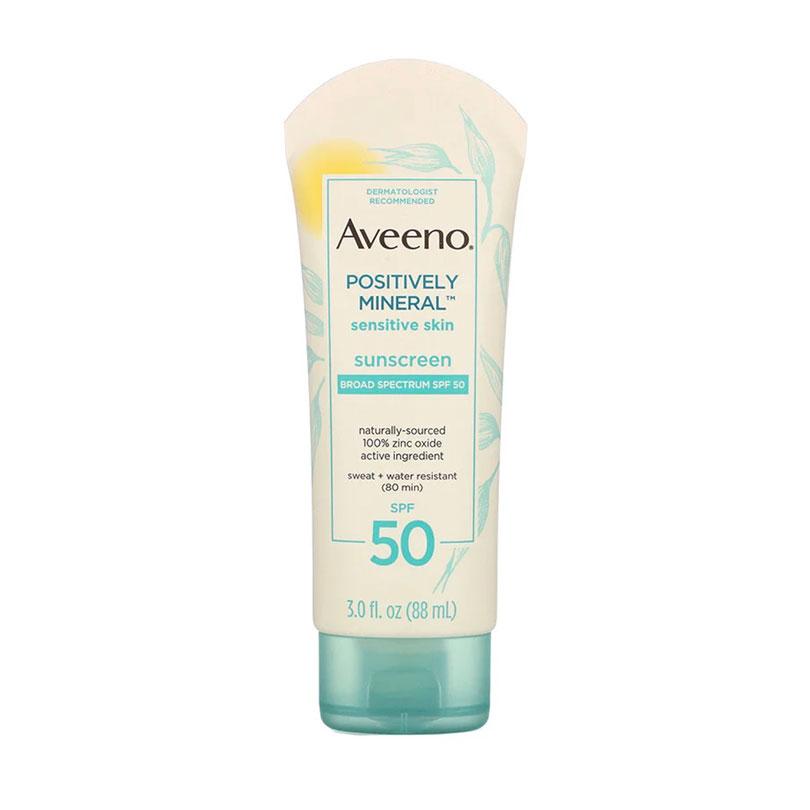 Aveeno 積極礦物敏感皮膚抗曬霜SPF 50(HK$90.54)