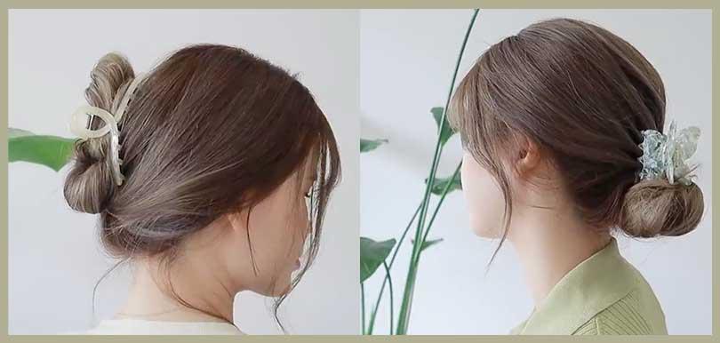 氣質感、溫柔感Up!3款韓系鯊魚夾髮型快速實用教學