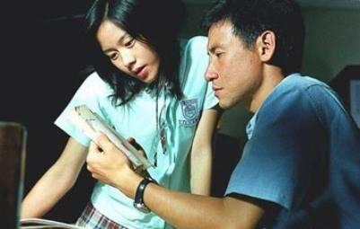 林嘉欣與張學友合作拍攝電影《男人四十》(網上圖片)