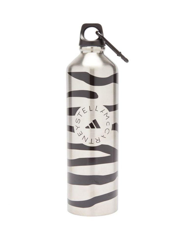 Adidas By Stella Mccartney Zebra-print metal water bottle 水樽