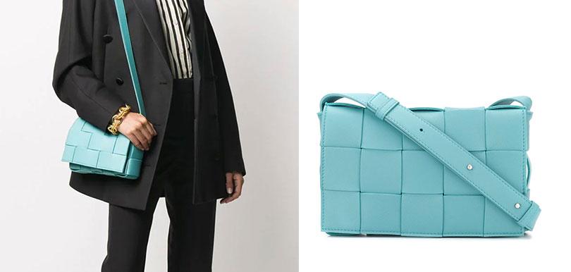 BOTTEGA VENETA粉藍格紋手袋 (HK$21,447)