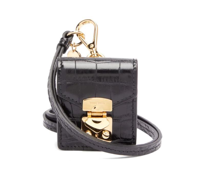 MIU MIU Crocodile-effect leather earphone case HK$1,939