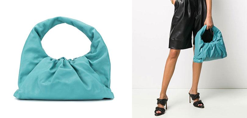 BOTTEGA VENETA湖水藍手袋(HK$20,360)