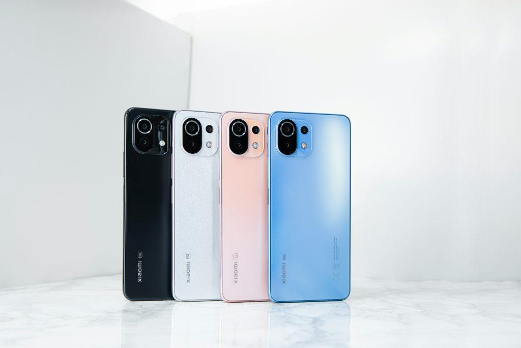 Xiaomi 11 Lite 5G NE的四款顏色