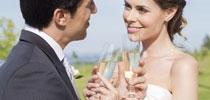 婚禮中的粉紅水滴