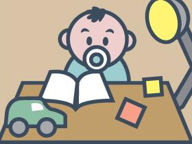 寶寶的書枱佈置