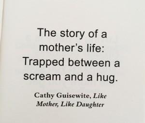 送給所有媽媽,希望大家都能夠在吵鬧及抱抱中得到平衡。