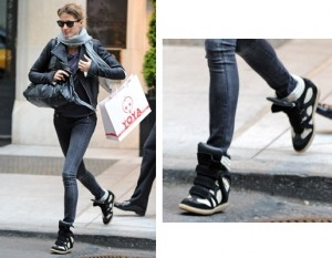 Gisele-Bundchen-Isabel-Marant-wedge-sneakers 01