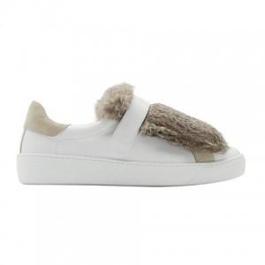 moncler fur lucies sneaker