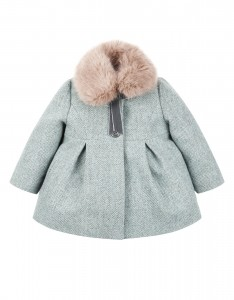 Baby Alice Aqua Tweed Coat from $770