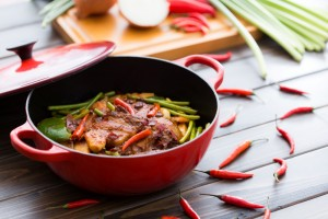 Sauteed Sliced Pork with Pepper and Chili