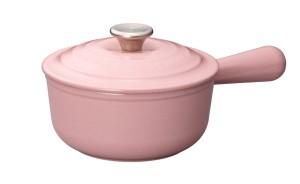 Chiffon Pink 16厘米圓形鑄鐵醬汁鍋16cm Saucepan