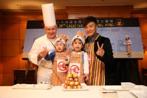 Great Chefs - Hong Kong Celebrity Alex Fong, Executive Pastry Chef at Grand Hyatt Hong Kong David White and children at the 24th Great Chefs of Hong Kong preview