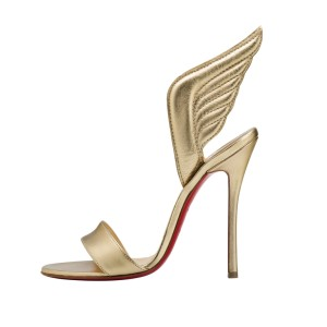 Christian Louboutin Samotresse 100 Nappa Shiny Light Gold