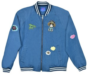 OPERA GIRL Badges Indigo Denim Bomber Jacket HK$2,150