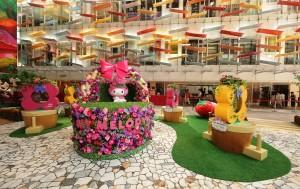 LINK_My Melody全城「綠」運會_樂富廣場A 區 -「My Melody 綠庭園」_ My Melody巨型花籃及水種植物打氣裝置