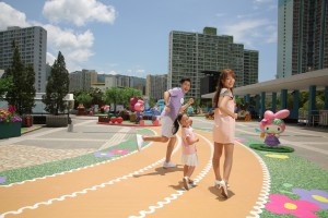 LINK_My Melody全城「綠」運會_樂富廣場B 區 - 「My Melody綠運場」_綠色花花跑道