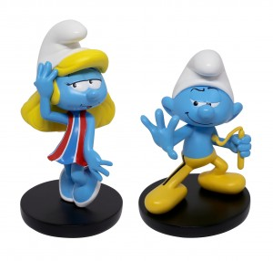 Smurf Figure HK Special Edition _12&10cmH