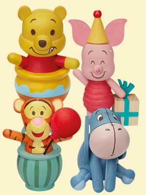 【熊粉必搶】Winnie the Pooh手作木製公仔
