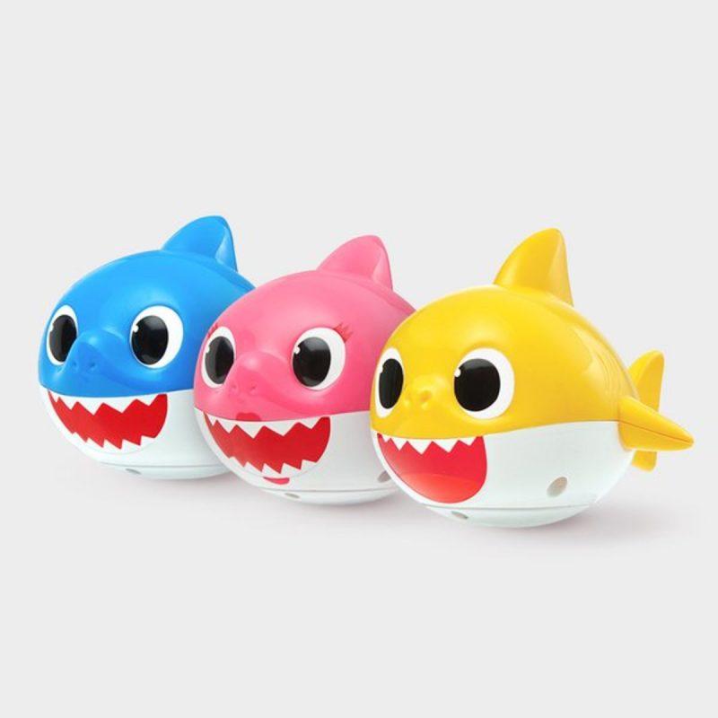 Pinkfong - 淋浴玩具 - LED鯊魚家族