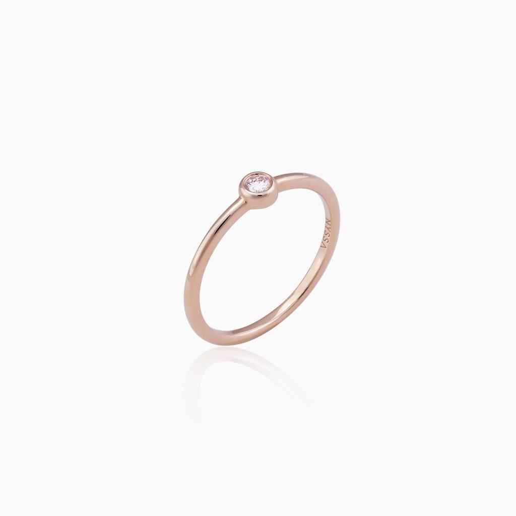 NYSSA 18K玫瑰金鑽石指環(HK$2,131)