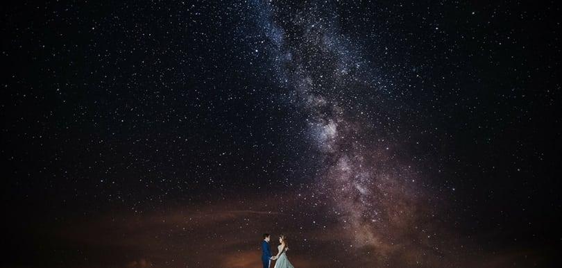 絕美銀河結婚照!登上合歡山拍婚攝
