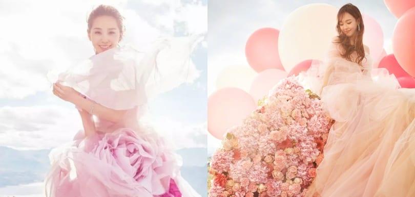 新娘膚色決定一切!各種粉紅色婚紗應該點揀?