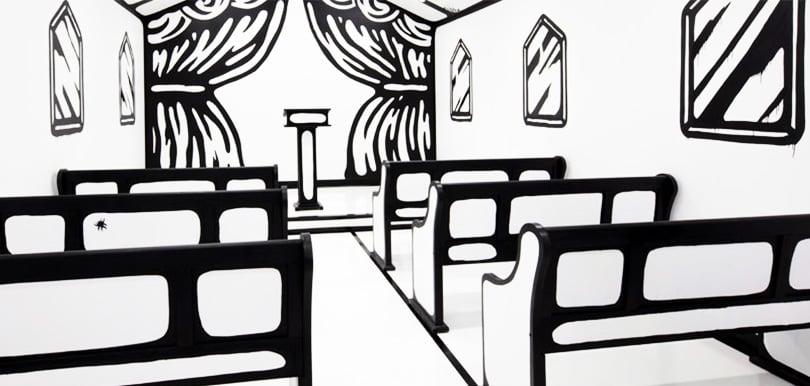 異次元!這座黑白色2D平面教堂,將會成為情侶的結婚熱點!