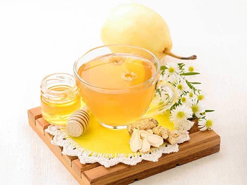 新派消暑涼茶4:菊花雪梨花旗蔘蜜