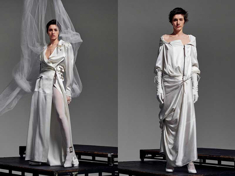 Ak Bridal Couture系列則更為狂野、大膽,結合了RTW常見的biker jacket 設計