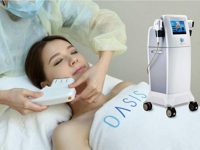 Oasis Medical從韓國引進「第5代HIFU-V雙倍速效聚焦緊膚儀」,採用獨特雙速雙軌探頭