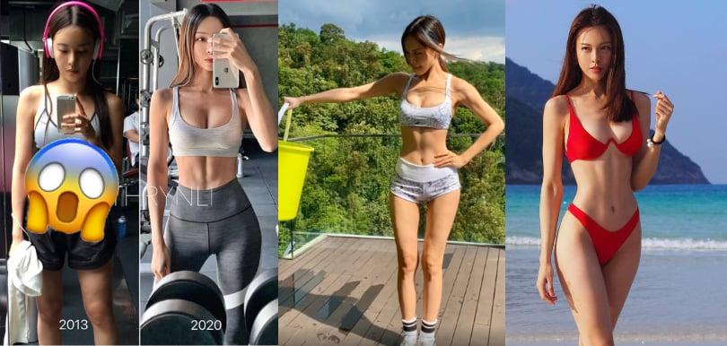 李元玲貼小肚腩舊相!7年來身材成魔之路︰水桶健身減肥不是人人做到