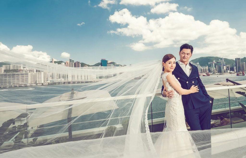江若琳與「生煎包王子」蕭潤邦當年結婚