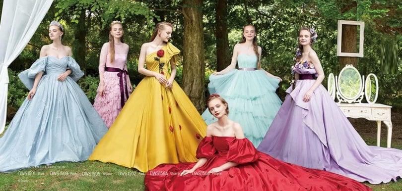 預告2021日本迪士尼公主婚紗系列︰白雪公主反傳統蘋果紅晚裝、灰姑娘仙氣滿滿!